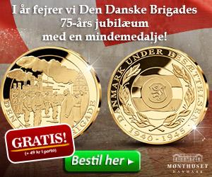 Den Danske Brigades 75 års jubilærum mindemedalje