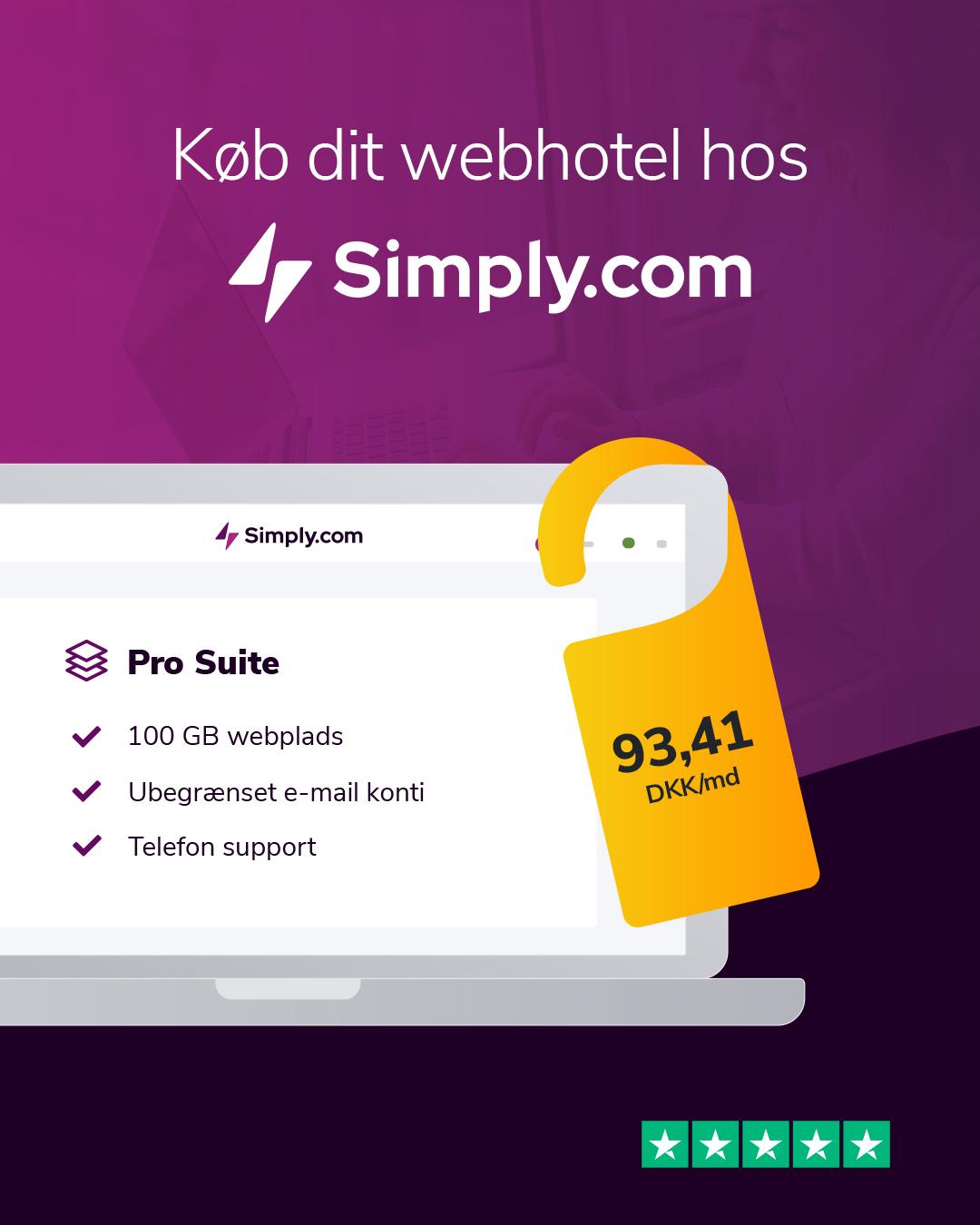 Simply.com webhotel